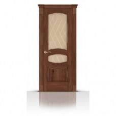 Дверь СитиДорс модель Гелиодор цвет Дуб миндаль стекло Ромб