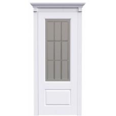 Ульяновская дверь Британия-1А15 белая эмаль ДО