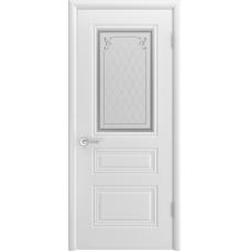 Ульяновская дверь Турин-С белая эмаль ДО