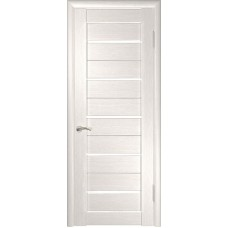 Дверь экошпон ЛУ-22 белёный дуб стекло белое