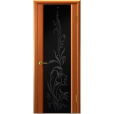 Ульяновские двери Трава-2 тёмный анегри