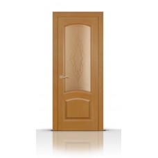 Дверь СитиДорс модель Александрит цвет Анегри светлый стекло
