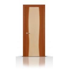 Дверь СитиДорс модель Жемчуг-2 цвет Анегри темный триплекс белый