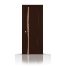 Дверь СитиДорс модель Жемчуг-1 цвет Венге триплекс белый