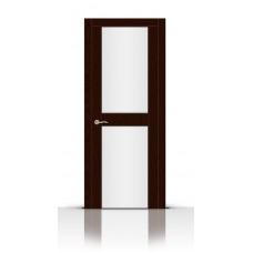 Дверь СитиДорс модель Турин-3 цвет Ясень шоколад триплекс белый