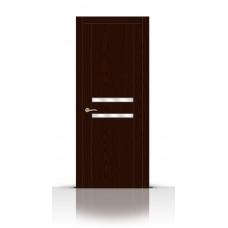Дверь СитиДорс модель Турин-2 цвет Ясень шоколад зеркало
