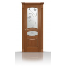 Дверь СитиДорс модель Гелиодор цвет Американский орех стекло Очарование