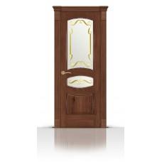 Дверь СитиДорс модель Гелиодор цвет Дуб миндаль стекло Нежность