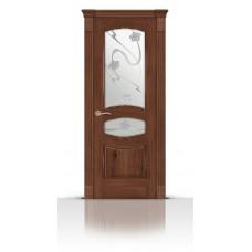 Дверь СитиДорс модель Гелиодор цвет Дуб миндаль стекло Очарование