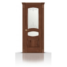 Дверь СитиДорс модель Гелиодор цвет Дуб миндаль стекло Романтик