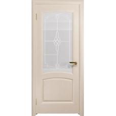 Дверь DioDoor Ровере беленый дуб белое пескоструйное Корено