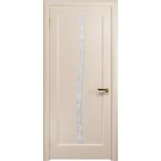 Дверь DioDoor Миланика-3 беленый дуб белое пескоструйное Миланика
