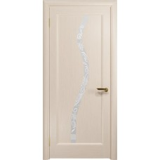 Дверь DioDoor Миланика-4 беленый дуб белое пескоструйное Миланика