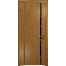 Дверь DioDoor Винтаж-1 анегри черный триплекс Вьюнок глянцевый