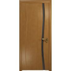Дверь DioDoor Грация-1 анегри черный триплекс Вьюнок матовый