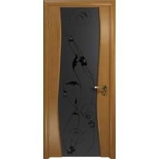 Дверь DioDoor Грация-3 анегри черный триплекс Вьюнок матовый