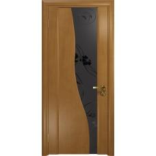 Дверь DioDoor Торелло анегри черный триплекс Вьюнок матовый