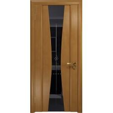 Дверь DioDoor Соната-2 анегри черный триплекс гравировка Звезда