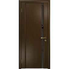 Дверь DioDoor Винтаж-1 венге черный триплекс Вьюнок матовый