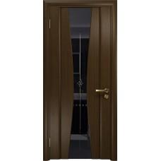 Дверь DioDoor Соната-2 венге черный триплекс гравировка Звезда