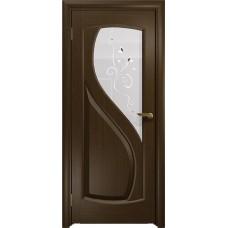 Дверь DioDoor Диона-1 венге белое пескоструйное Лилия
