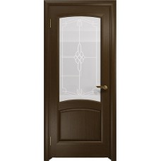 Дверь DioDoor Ровере венге белое пескоструйное Корено