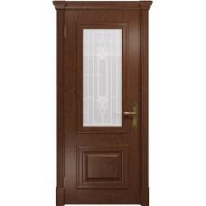 Дверь DioDoor Кардинал красное дерево белое пескоструйное Кардинал