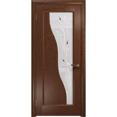 Дверь DioDoor Торино красное дерево белое пескоструйное Рами
