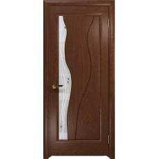Дверь DioDoor Энжел красное дерево белое пескоструйное Капля