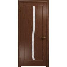 Дверь DioDoor Миланика-3 красное дерево белое пескоструйное Миланика