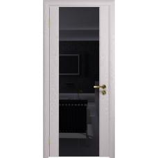 Дверь DioDoor Триумф-3 ясень белый черный триплекс