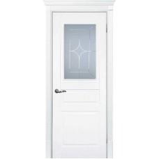 Межкомнатная дверь Смальта-01 белая RAL 9003 ДО