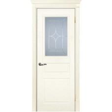 Межкомнатная дверь Смальта-01 слоновая кость RAL 1013 ДО