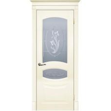 Межкомнатная дверь Смальта-02 слоновая кость RAL 1013 ДО