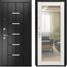 Входная дверь Luxor-14 зеркало ПВХ сосна прованс